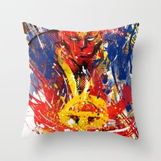 Red T Throw Pillow