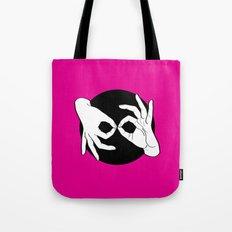Sign Language (ASL) Interpreter – White on Black 05 Tote Bag