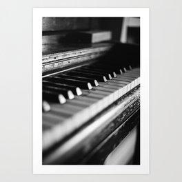 Piano Keys (35mm Film) Art Print