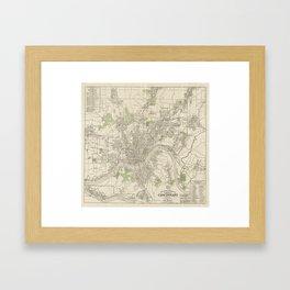 Vintage Map of Cincinnati Ohio (1915) Framed Art Print