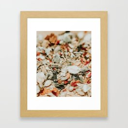 abstract herbal floral print Framed Art Print