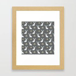 Jackelope of all Trades Pattern Framed Art Print