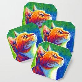 Rainbow Cat Portrait Coaster