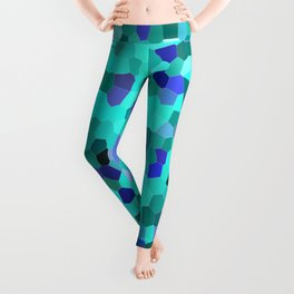Mosaic in Turquoise, Blue and Teal Leggings
