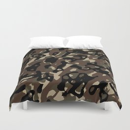 Camouflage Abstract Duvet Cover
