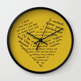 Quotes of the Heart - Amy/Rory (Black) Wall Clock