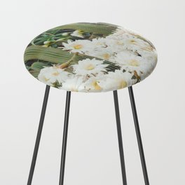 Cactus and Flowers Counter Stool