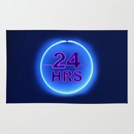 24 hrs (Twenty Four Hours Neon) Rug
