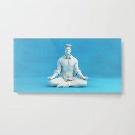 Keeping Calm in Stressful Situations as a Mental Concept Metal Print