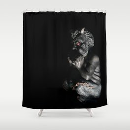 My Little Pan-y  Shower Curtain