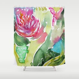Floral abstraction || watercolor Shower Curtain