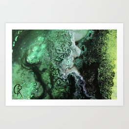 Fossil Fuels Original Abstract Painting, Contemporary Abstract Artwork Design, Abstract Painting Art Print