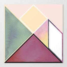 Tangram Square Six Canvas Print