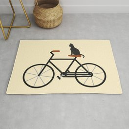 Cat Riding Bike Rug
