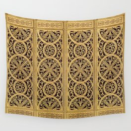 Golden Ornement Wall Tapestry