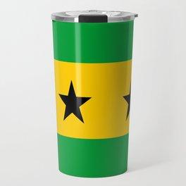 Sao Tome and Principe country flag Travel Mug
