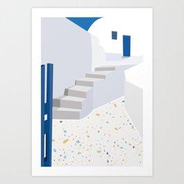 Architectural greece Art Print