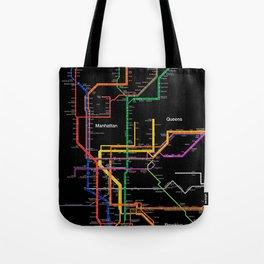 New York City subway map Tote Bag