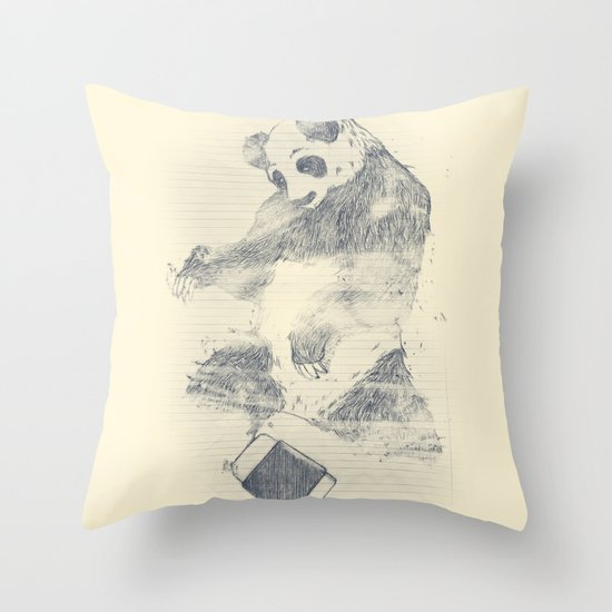 we are endangered Throw Pillow