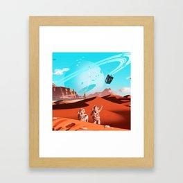 tardis space Framed Art Print