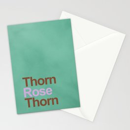 A rose between two thorns Stationery Cards