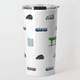 Boston Pixel Pattern Travel Mug