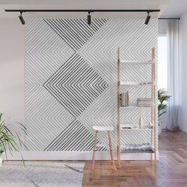 Stripe Geometric Stack Wall Mural
