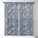 Blue marble with Golden streaks by catyarte