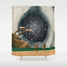 Catch the Wormhole of 3:45 PM Shower Curtain