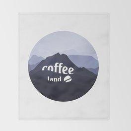 Coffee highland - I love Coffee Throw Blanket
