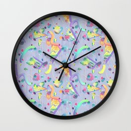 squiggle stones Wall Clock