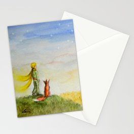 Little Prince, Fox and Wheat Fields Stationery Cards