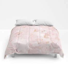 abstract-soft pink Comforters