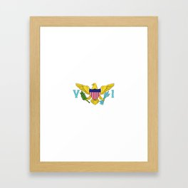 Virgin Islands US flag emblem Framed Art Print