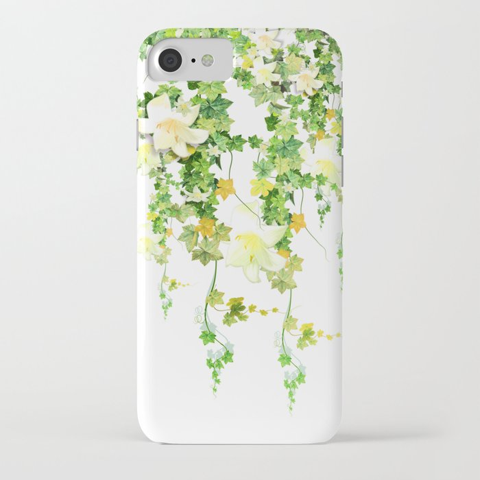 watercolor ivy iphone case