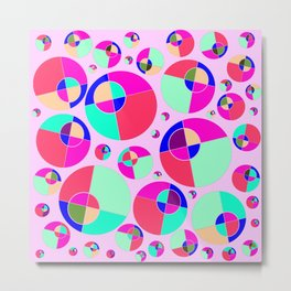 Bubble pink Metal Print