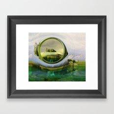 Slipping thru time like sun rays on glass Framed Art Print