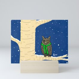 Owl Just Be on My Branch in My Scarf Mini Art Print