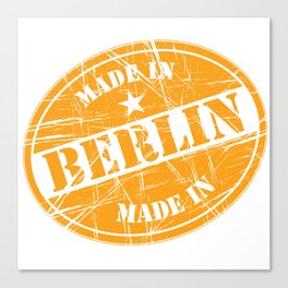 Made in Berlin Canvas Print