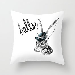 Dirty Dishes-- Hare Throw Pillow