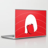 amy sia Laptop & iPad Skins featuring Girls Like Sia  by Smudgey Paw