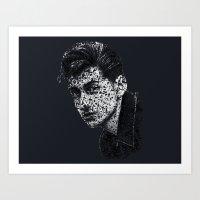 alex turner Art Prints featuring Typo-songs Alex Turner by Daniac Design