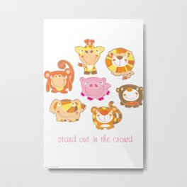 Silly Safari - Stand Out In The Crowd - vertical Metal Print