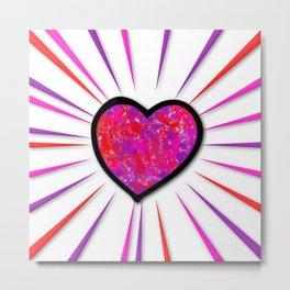 Painterd heart Metal Print
