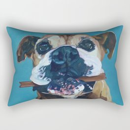 My Happy Abby Boxer Girl Portrait Rectangular Pillow