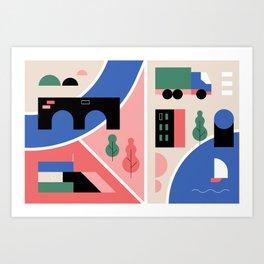 City Map Fragment IV Art Print