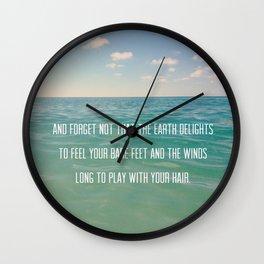 Oceanic Inspiration Wall Clock