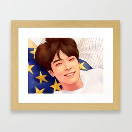 WONWOO: OUR DAWN IS HOTTER THAN DAY Framed Art Print