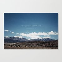 not all who wander Canvas Prints featuring Not All Who Wander by Thomas Drach