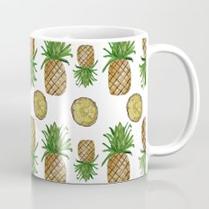 Watercolor Pineapples - repeat pattern Coffee Mug